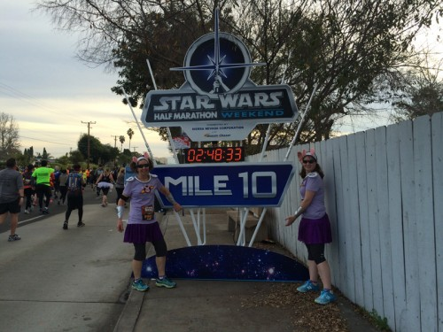 When it was still dark, the lightsabers on these mile markers were lit up.