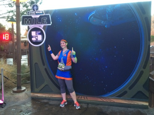 Every mile marker was different for the 10K, which was really cool.