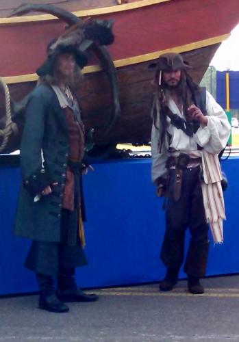 Capt. Jack Sparrow and Capt. Barbosa