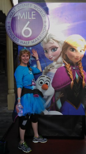 Mile 6 with Anna and Elsa