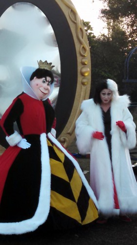 Queen of Hearts and Cruella deVille