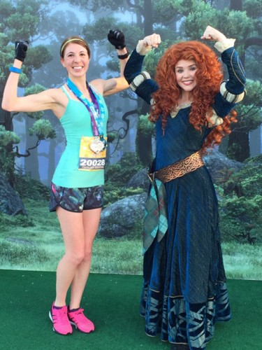 After the half marathon with Merida, one tough princess