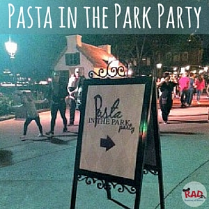 Pasta in the Park Party