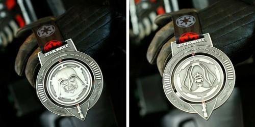 2016 Star Wars Half Marathon - The Dark Side Medal Photo: runDisney