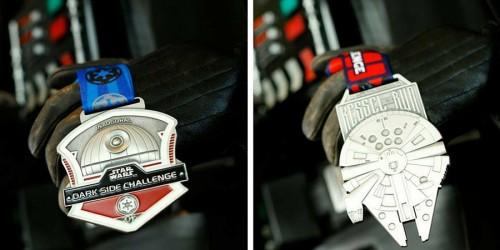 2016 Star Wars Half Marathon - Dark Side Challenge & Kessel Run Medals Photo: runDisney